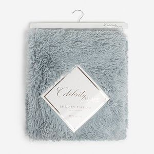 NEW! Pearl Blue Celebrity Home Luxury Throw